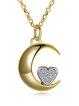 Gold-Color Silver-Color Zircon Necklace