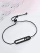 Black Copper Geometry Zircon Bracelet
