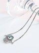 Silver Zircon Eye Copper Bracelet