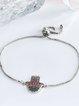 Silver Copper Zircon Bracelet