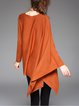 Asymmetrical Batwing Plain Long Sleeved Top