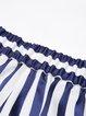 Blue Pockets Casual Stripes Shorts