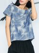 Printed Short Sleeve Ombre/Tie-Dye T-Shirt