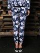 Spandex Floral-print Casual Skinny Leg Pants