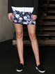 Spandex Casual Floral-print Mini Skirt