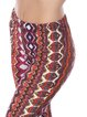 Orange Abstract Printed Casual Flared Pants