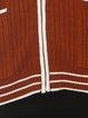 Ribbed Long Sleeve V Neck Cardigan