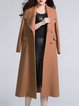 Camel Lapel Buttoned Elegant Shift Coat