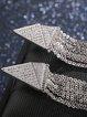 Silver Alloy Tassel Earrings