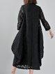 Tencel 3/4 Sleeve Crew Neck Linen Dress