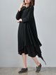 Casual Asymmetrical Linen Long Sleeve Linen Dress