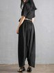 Shorts Sleeve Wrap Solid Surplice Neck Two-piece Set