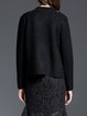 Solid Stand Collar Elegant Long Sleeve Knitted Cardigan