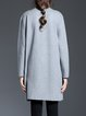 Wool Blend H-line Embroidered Long Sleeve Cardigan