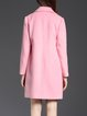 Pink Lapel Solid Pockets Elegant Coat