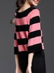 Casual Long Sleeve Stripes Sweater