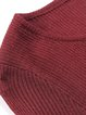 Burgundy Basic Wool Blend Solid Crew Neck Long Sleeved Top