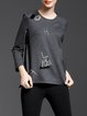 Gray H-line Pockets Sweatshirt