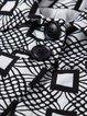 Black Vintage Pockets H-line Jacquard Cropped Jacket