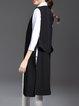 Black H-line Sleeveless Slit Vest