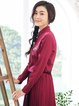 Casual Long Sleeve Embroidered Shirt Collar H-line Blouse