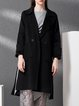 Wool Lapel Long Sleeve Buttoned Pockets Coat