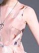 Sleeveless Elegant Floral Bow Polyester Midi Dress