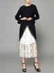 Guipure Lace Bell Sleeve Casual Midi Dress