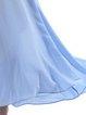 Elegant Nylon Half Sleeve Ruffled Maxi Dress