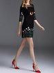 Half Sleeve Casual Cotton Mini Dress