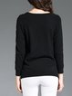 Black Casual Solid Sweater