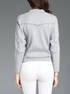 Gray Stand Collar Casual Coat