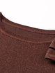 Brown Bow 3/4 Sleeve Crew Neck A-line Midi Dress