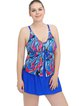 Royal Blue Removable Padded Printed One-Pieces&Tankini
