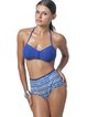 Blue High Rise Printed Bikini