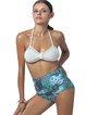 Multicolor Halter High Rise Bikini