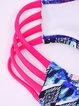 Multicolor Halter Wireless Printed Bikini