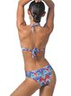 Blue Padded Halter Printed One-Piece