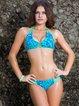 Blue Bandage Printed Bikini