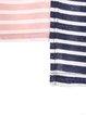 Pink Statement Color-block Asymmetrical Stripes T-Shirt