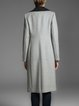 Light Gray Lapel Plain Long Sleeve Coat