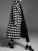 Black Symmetric Casual Lapel Coat