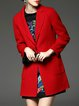 Wool Blend Long Sleeve Buttoned Solid Elegant Coat