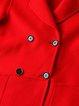 Elegant Slit Long Sleeve Solid Wool Blend Coat