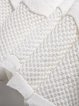 Sleeveless Crew Neck Elegant Paneled Wool Mini Dress