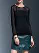 Long Sleeve Crew Neck Paneled Long Sleeved Top