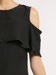 Cold Shoulder Elegant  Midi Dress