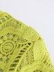 Light Green Half Sleeve H-line Midi Dress