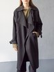 Black Cotton-blend Elegant Trench Coat