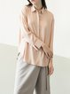 Apricot Plain H-line Long Sleeve Blouse